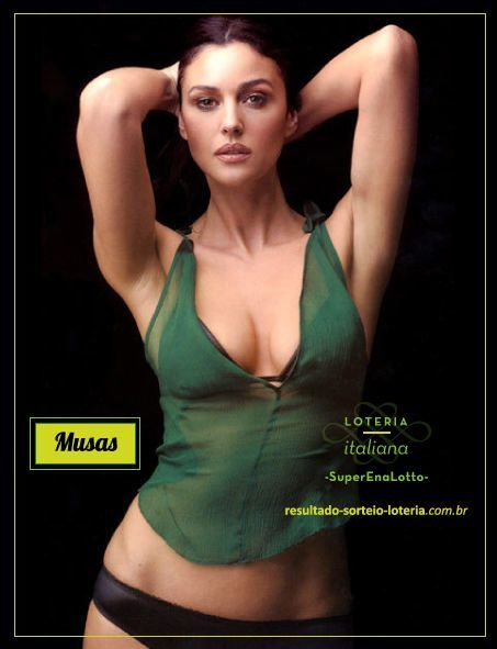 Musas Loteria Italiana SuperEnaLotto Monica Bellucci 1 Loteria Italiana SuperEnaLotto