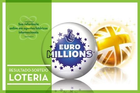 Sorteio da EuroMillions acumulada nesta terca-feira
